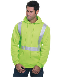 USA-Made Hi-Visibility Hooded Pullover Fleece-Bayside-Pacific Brandwear