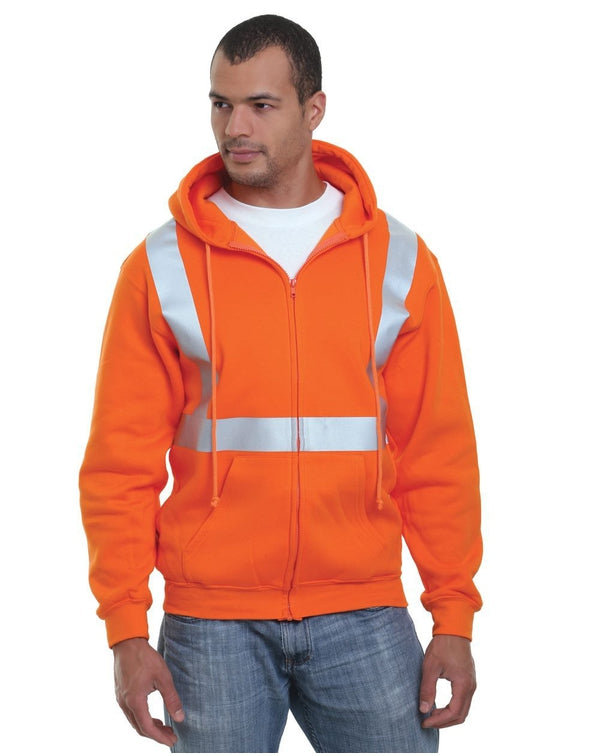 USA-Made Hi-Visibility Full-Zip Hooded Fleece-Bayside-Pacific Brandwear