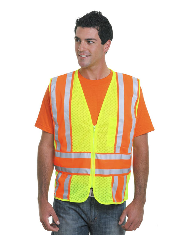 USA-Made ANSI Safety Mesh Vest-Bayside-Pacific Brandwear