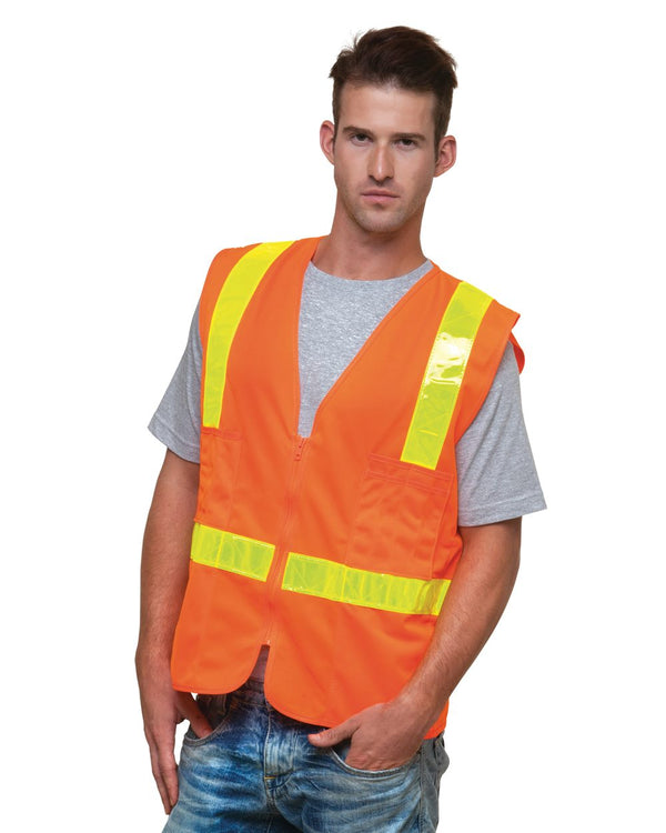USA-Made ANSI Solid Surveyor's Vest Class 2-Bayside-Pacific Brandwear