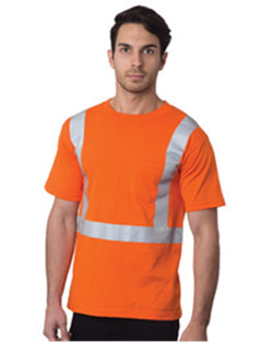 USA-Made High Visibility Short sleeve T-Shirt with Pocket-Bayside-Pacific Brandwear