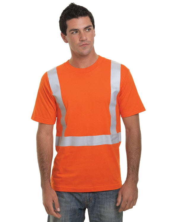 USA-Made High Visibility Short sleeve T-Shirt-Bayside-Pacific Brandwear