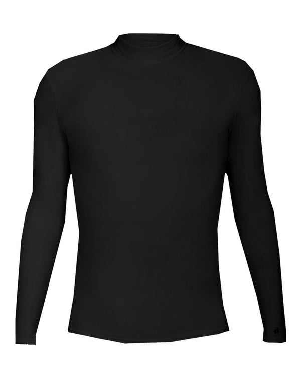 B-HOT Compression Long sleeve Mock-Badger-Pacific Brandwear
