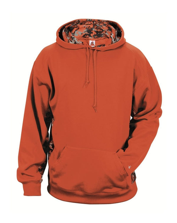Youth Digital Camo Colorblock Performance Fleece Hooded Sweatshirt-Badger-Pacific Brandwear
