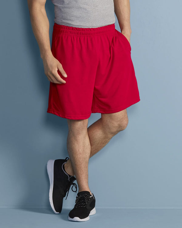 Performance Shorts with Pockets-Gildan-Pacific Brandwear