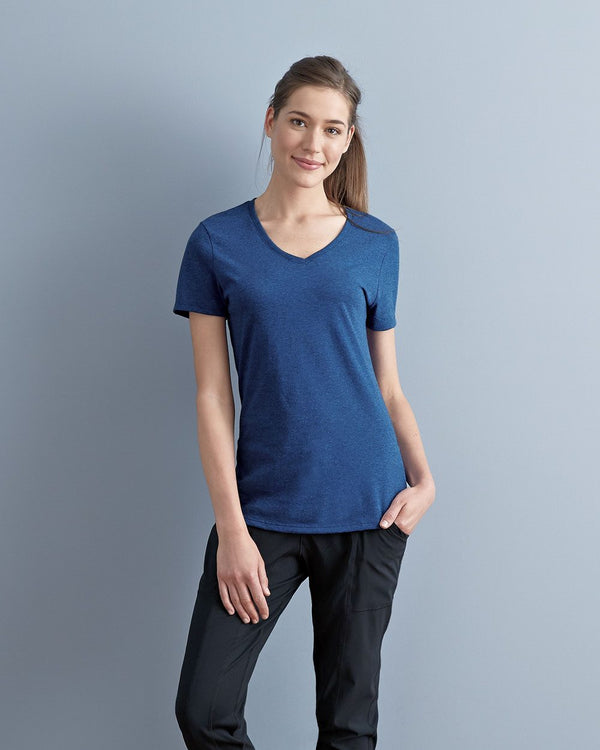 Women's Tribend V-Neck Short sleeve T-Shirt-JERZEES-Pacific Brandwear