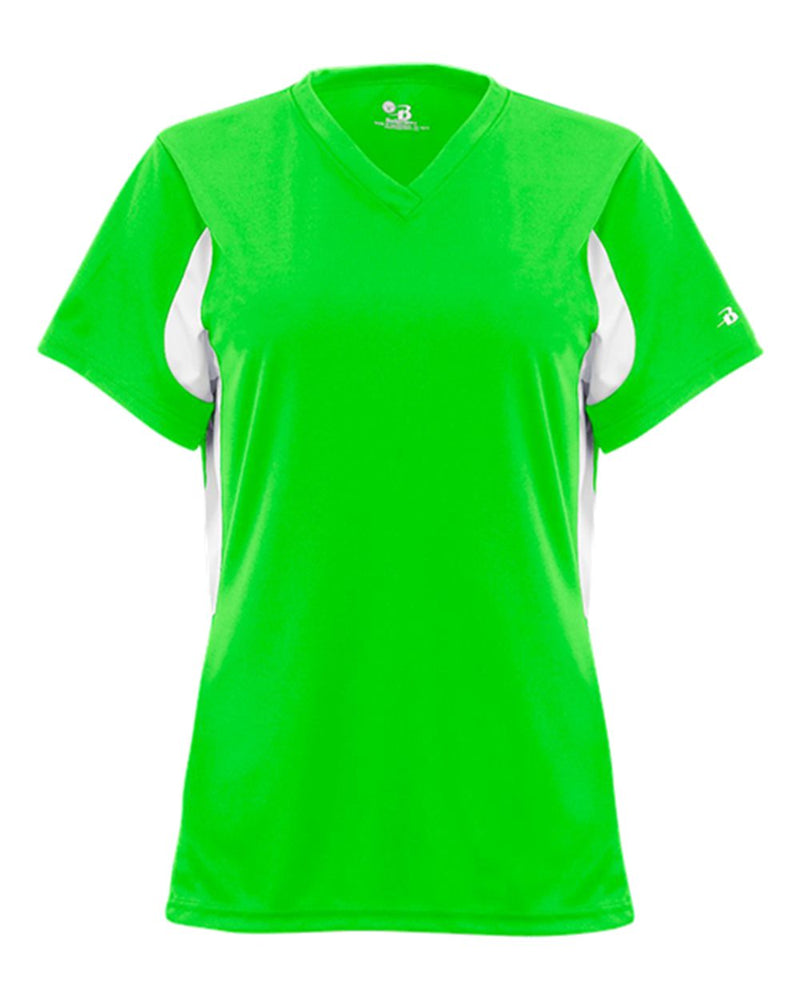 Women's B-Core Rally Jersey-Badger-Pacific Brandwear