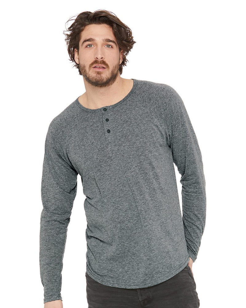 Triblend Long sleeve Henley-Next Level-Pacific Brandwear