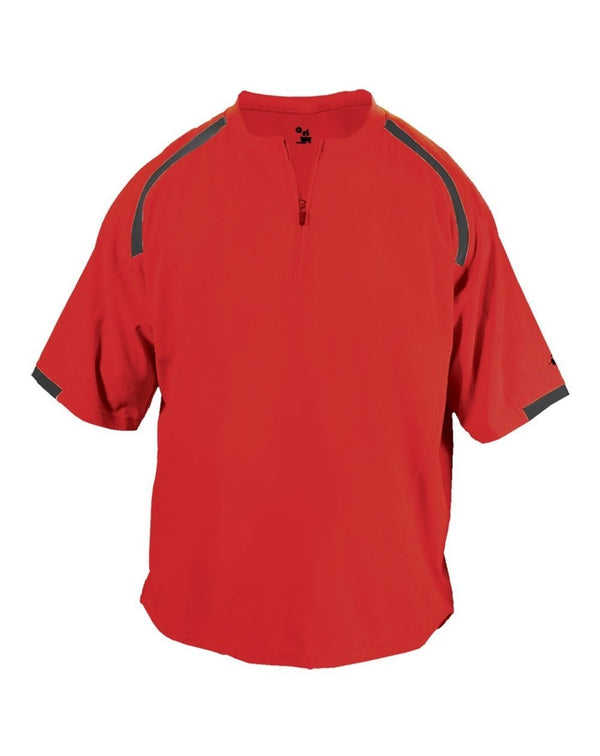 Competitor Short sleeve Pullover WindShirt-Badger-Pacific Brandwear