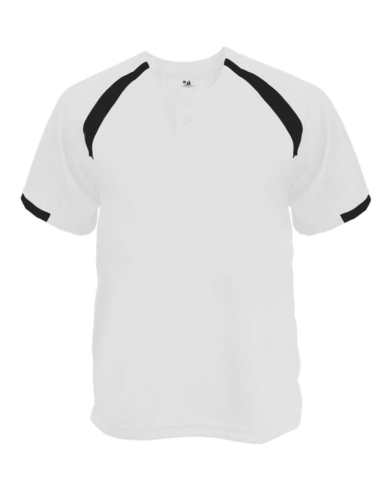 Youth B-Core Competitor Placket Jersey-Badger-Pacific Brandwear