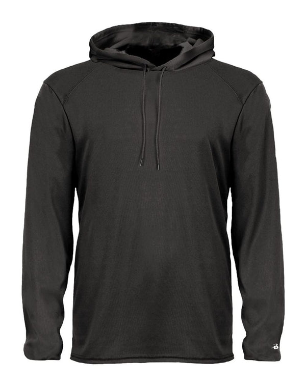 B-Core Hooded Long sleeve T-Shirt-Badger-Pacific Brandwear