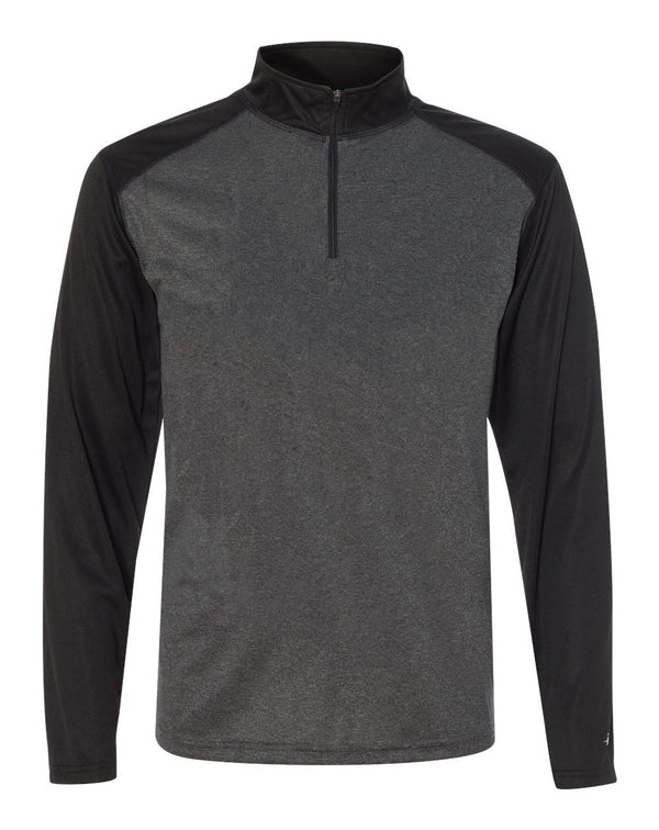 Pro Heather Quarter-Zip Pullover-Badger-Pacific Brandwear