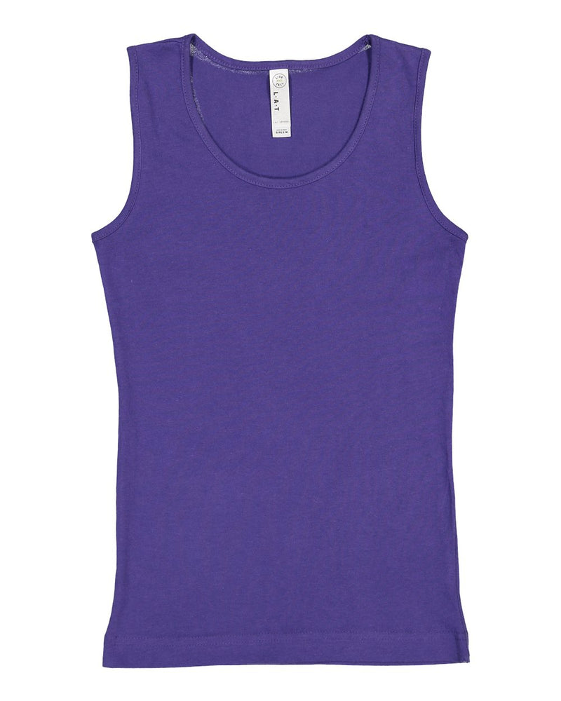 Girls' Fine Jersey Tank Top-LAT-Pacific Brandwear