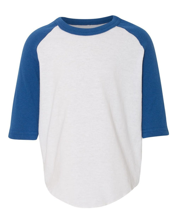 Toddler Three-Quarter sleeve Baseball Jersey-Augusta Sportswear-Pacific Brandwear