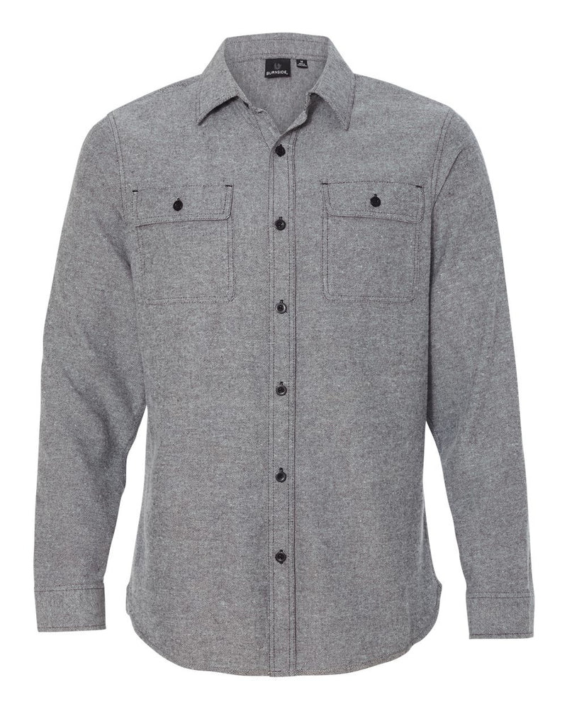 Long sleeve Solid Flannel Shirt-Burnside-Pacific Brandwear