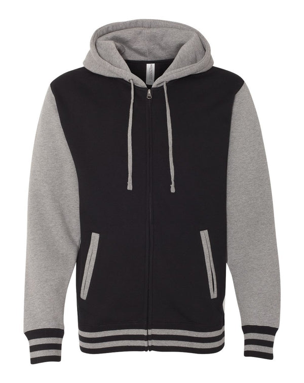 Unisex Varsity Full-Zip Hooded SweatShirt-Independent Trading Co.-Pacific Brandwear
