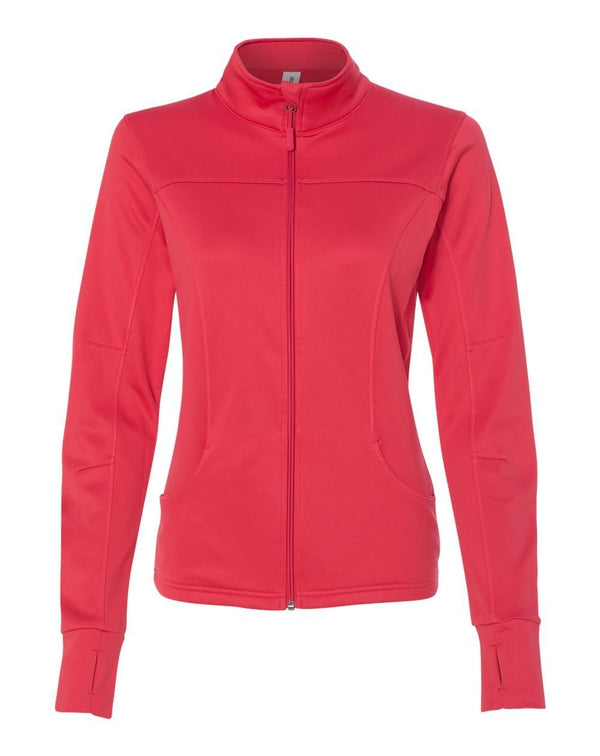 Women's Poly-Tech Full-Zip Track Jacket-Independent Trading Co.-Pacific Brandwear