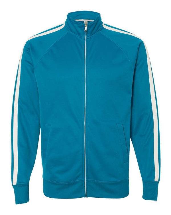 Unisex Poly-Tech Full-Zip Track Jacket-Independent Trading Co.-Pacific Brandwear