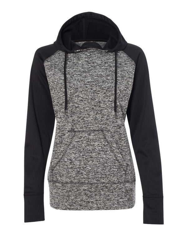 Women's Colorblocked Cosmic Fleece Hooded Sweatshirt-J. America-Pacific Brandwear
