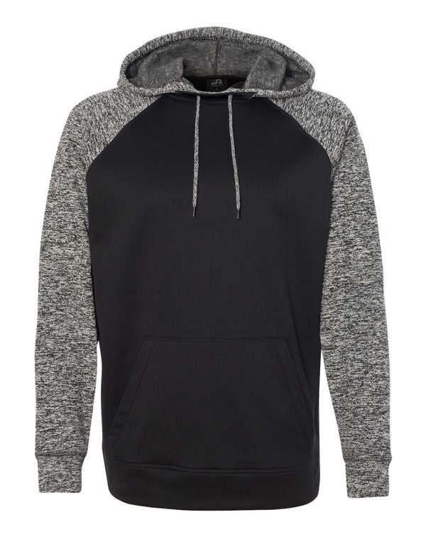 Colorblocked Cosmic Fleece Hooded Sweatshirt-J. America-Pacific Brandwear