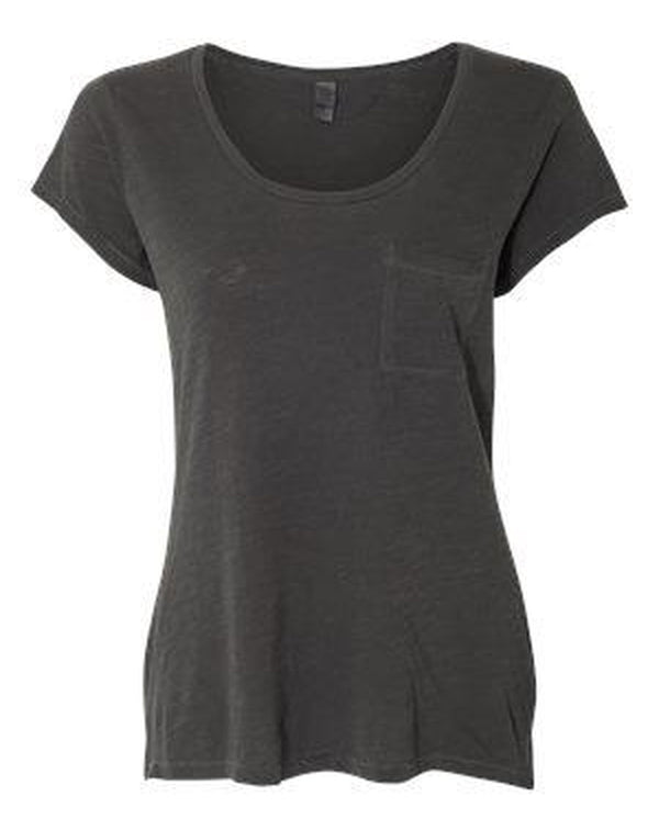 Women's Washed Slub Favorite Pocket T-Shirt-Alternative Apparel-Pacific Brandwear