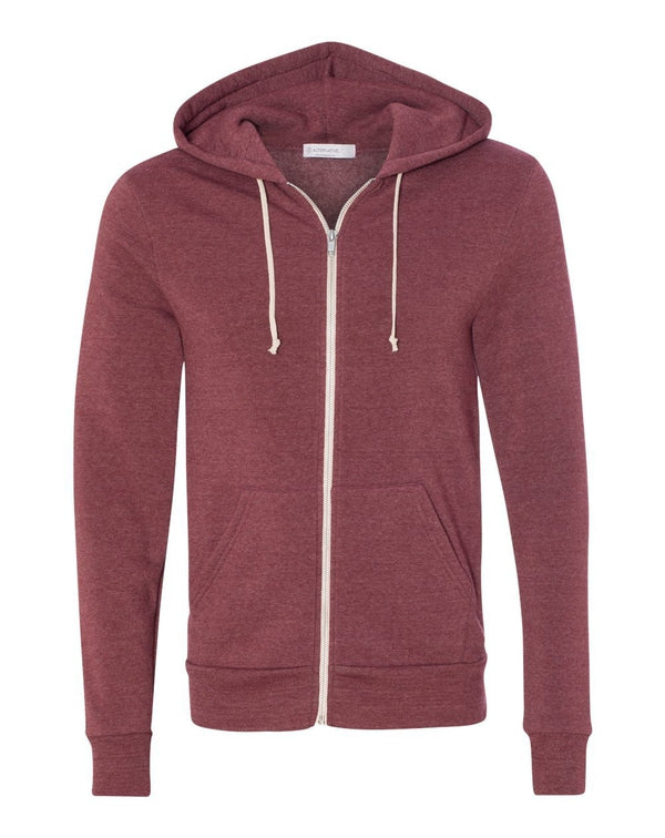Rocky Eco-Fleece Full-Zip Hooded Sweatshirt-Alternative Apparel-Pacific Brandwear