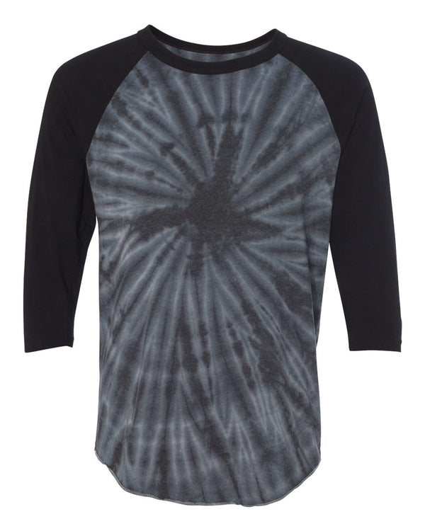 Tie Dye Three-Quarter sleeve Raglan T-Shirt-Dyenomite-Pacific Brandwear