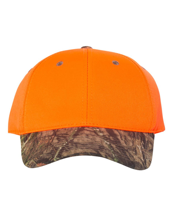 Blaze Crown Cap with Camo Visor-Outdoor Cap-Pacific Brandwear