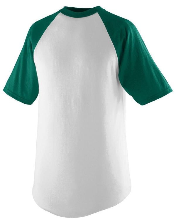 Youth Short sleeve Baseball Jersey-Augusta Sportswear-Pacific Brandwear