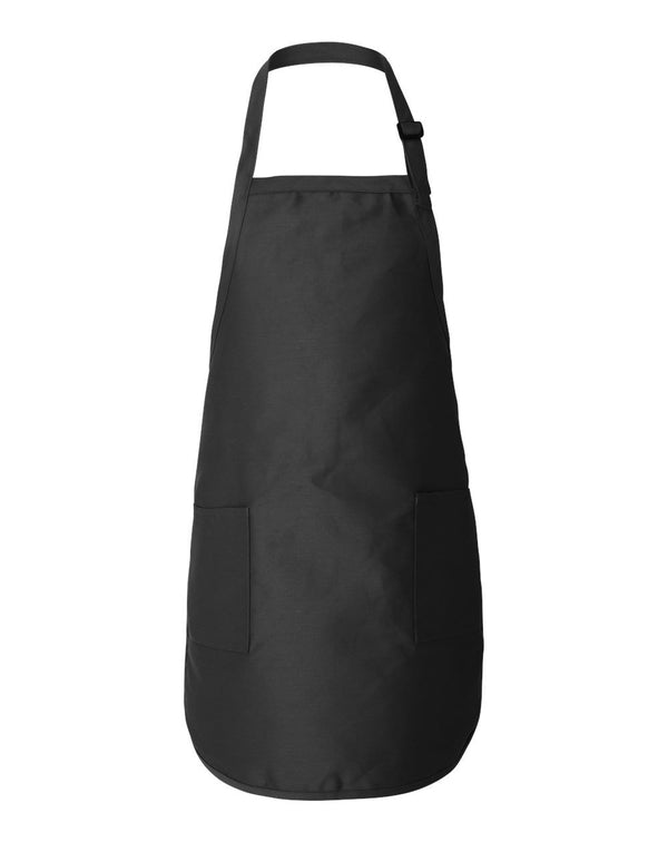 Full-Length Apron with Pockets-Q-Tees-Pacific Brandwear