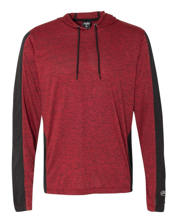 Performance Cationic Hooded Pullover T-Shirt-Rawlings-Pacific Brandwear