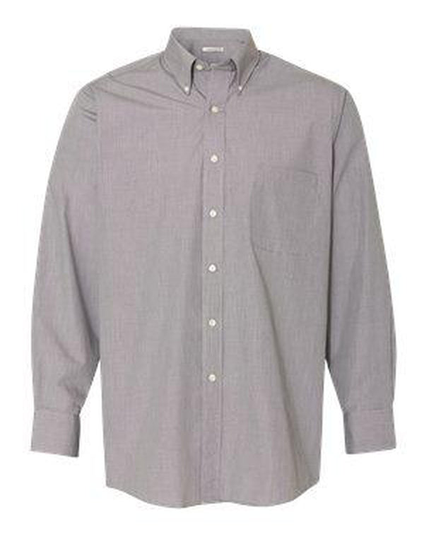 Yarn Dyed Mini Check Long Sleeve Shirt-Van Heusen-Pacific Brandwear