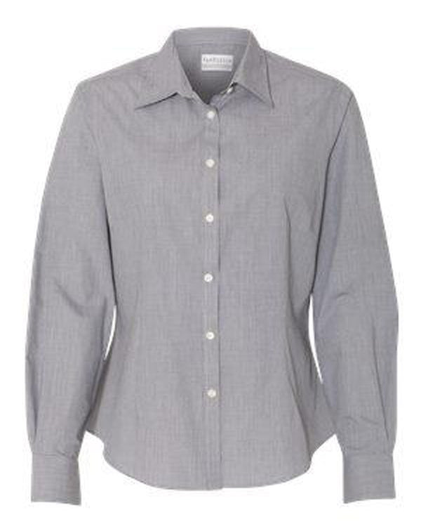 Women's Yarn Dyed Mini Check Long Sleeve Shirt-Van Heusen-Pacific Brandwear