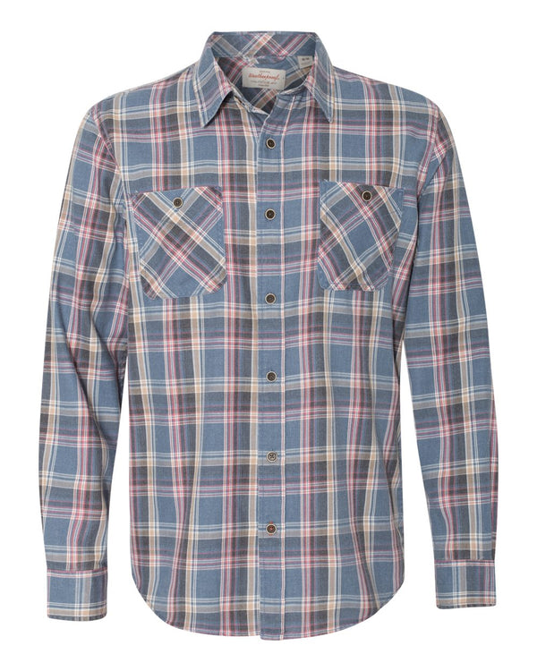 Vintage Burnout Flannel Shirt-Weatherproof-Pacific Brandwear