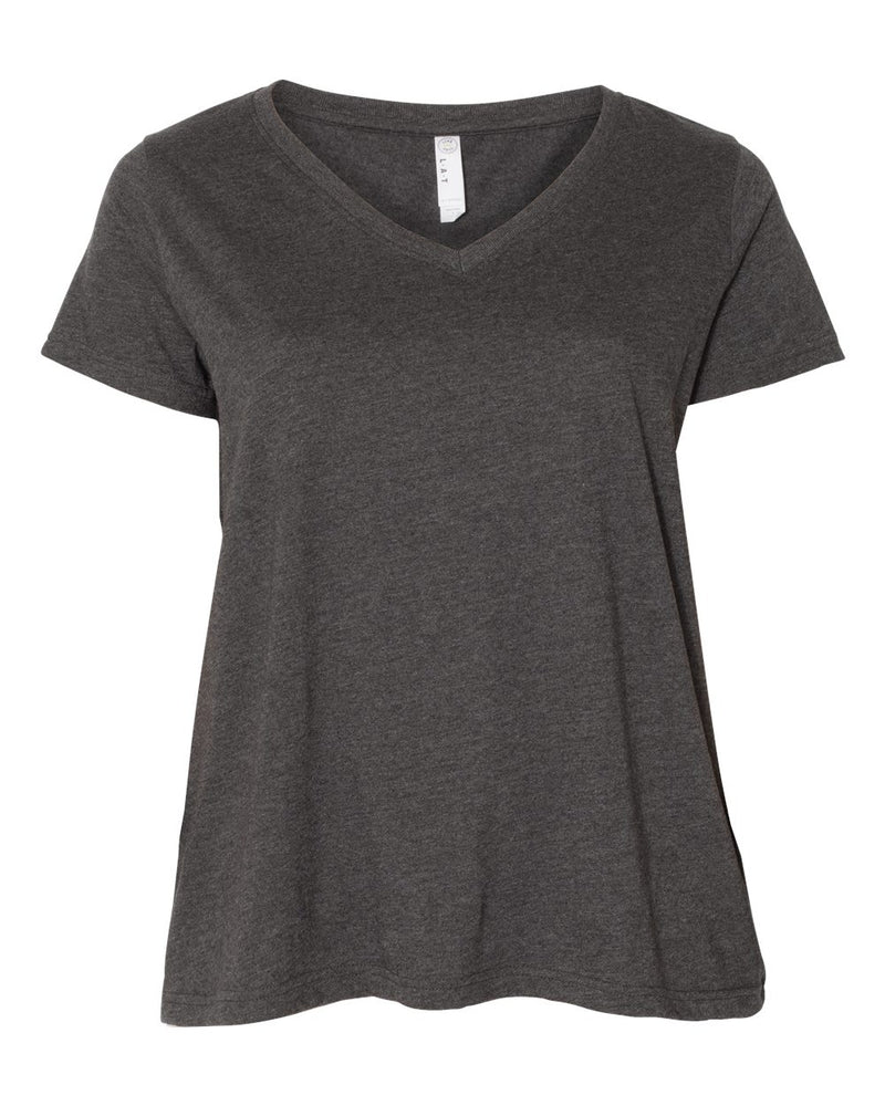 Curvy Collection Women's Premium Jersey V-Neck Tee-LAT-Pacific Brandwear
