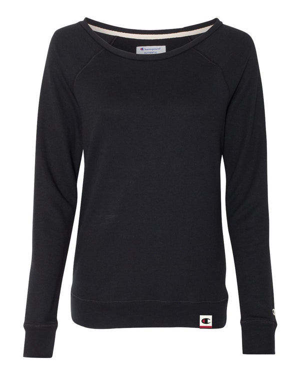 Originals Women's French Terry Boat Neck Sweatshirt-Champion-Pacific Brandwear