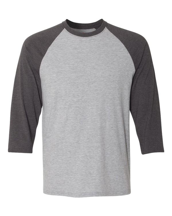 X-Temp Three-Quarter Raglan sleeve Baseball T-Shirt-Hanes-Pacific Brandwear