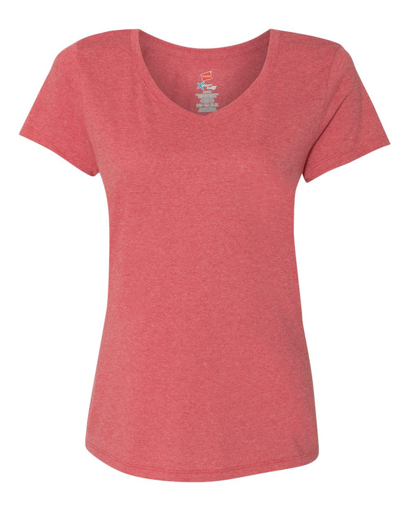 Women's Premium Triblend V-Neck Short sleeve T-Shirt-Hanes-Pacific Brandwear