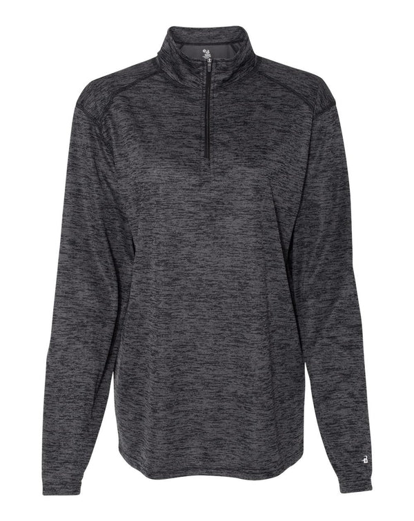 WomenÍs Tonal Blend Quarter-Zip Pullover-Badger-Pacific Brandwear