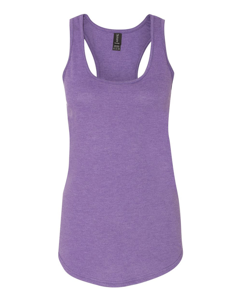 Women's Triblend Racerback Tank Top-Anvil-Pacific Brandwear