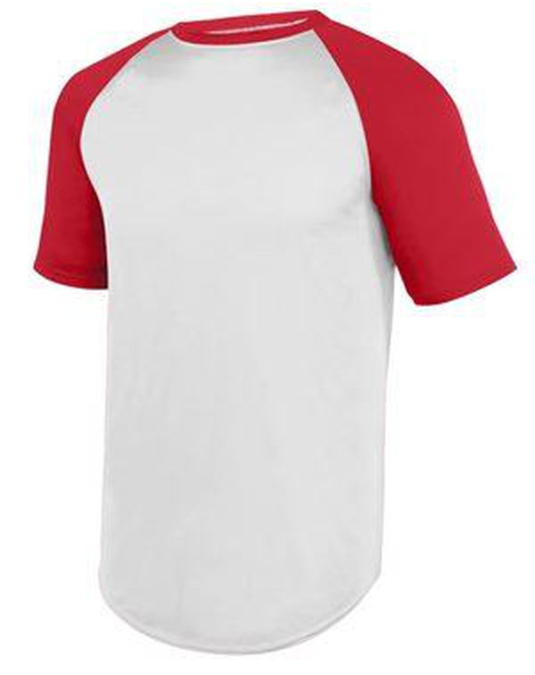Wicking Short Sleeve Baseball Jersey-Augusta Sportswear-Pacific Brandwear