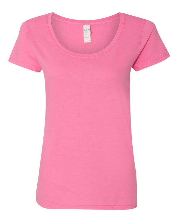 Softstyle Women's Deep Scoop Neck T-Shirt-Gildan-Pacific Brandwear