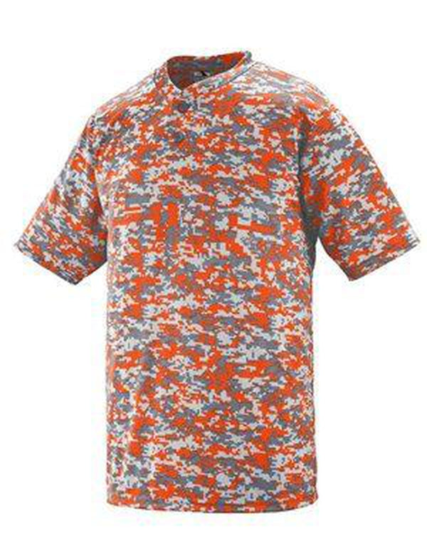 Digi Camo Wicking Two-Button Jersey-Augusta Sportswear-Pacific Brandwear