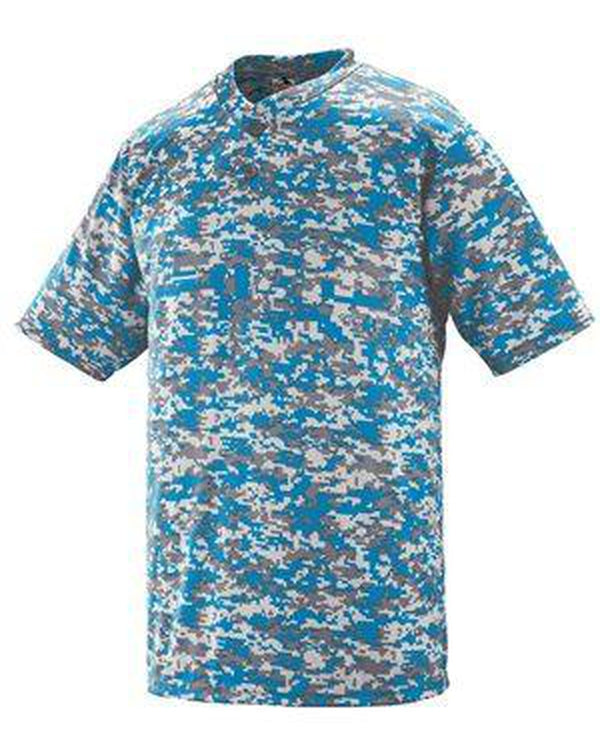 Youth Digi Camo Wicking Two-Button Jersey-Augusta Sportswear-Pacific Brandwear