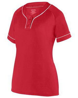 Women's Overpower Two-Button Jersey-Augusta Sportswear-Pacific Brandwear