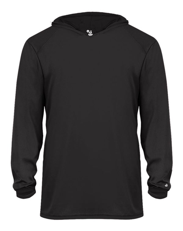 Youth B-Core Long sleeve Hooded T-Shirt-Badger-Pacific Brandwear