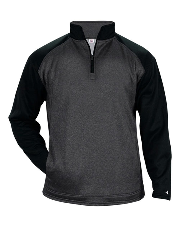Sport Heather Tonal Quarter-Zip Pullover-Badger-Pacific Brandwear