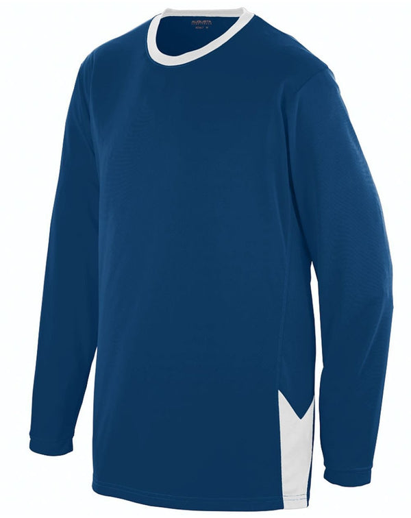 Youth Block Out Long sleeve Jersey-Augusta Sportswear-Pacific Brandwear