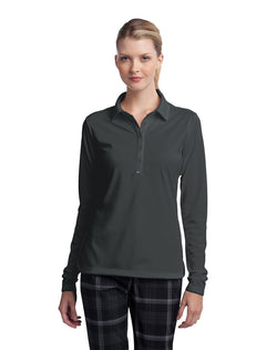 Nike Ladies Long Sleeve Dri-FIT Stretch Tech Polo-Nike-Pacific Brandwear