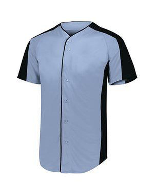 Youth Full Button Baseball Jersey-Augusta Sportswear-Pacific Brandwear